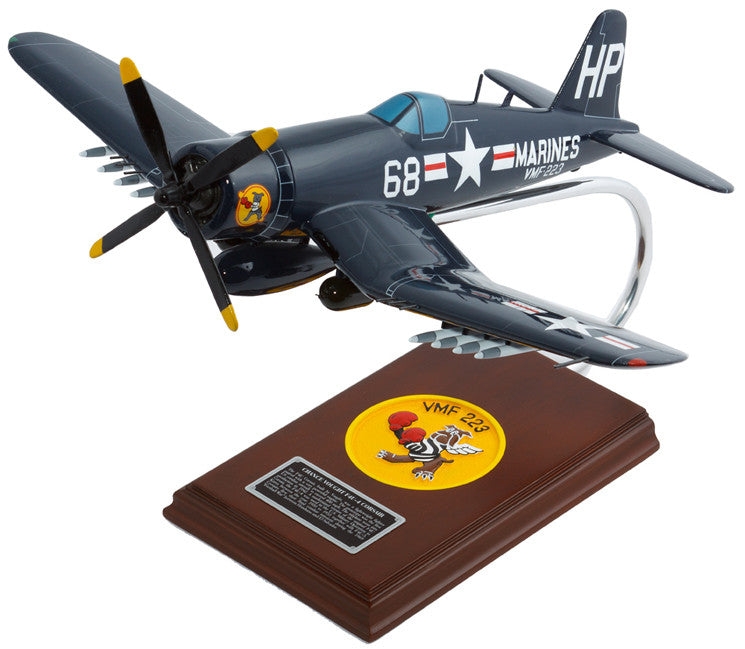 Vought F4U-4 Corsair US Marines Mahogany Model