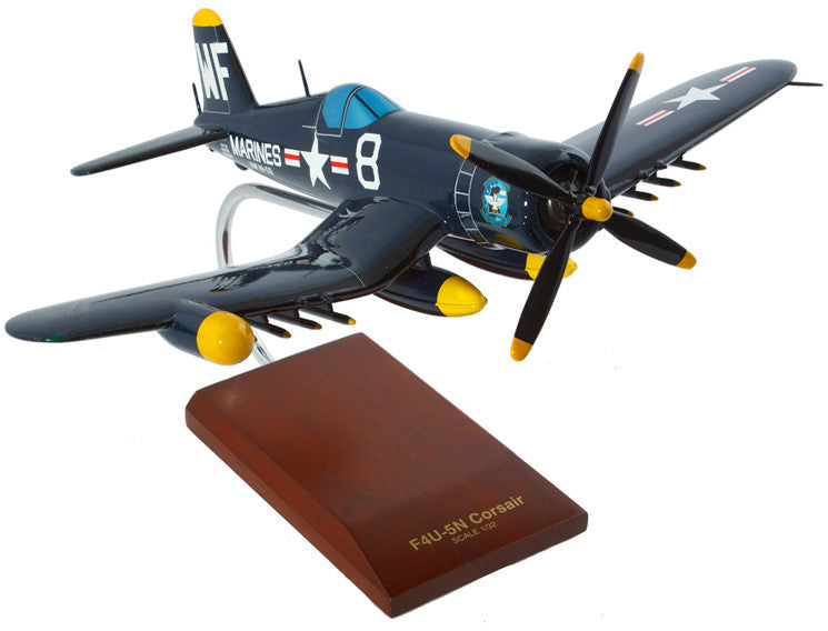 Vought F4U-5NL Nite Corsair Mahogany Model