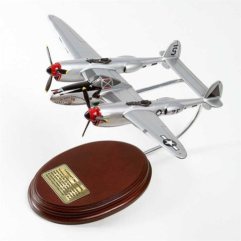 Lockheed Martin P-38J Lightning 1/50 Scale Mahogany Model