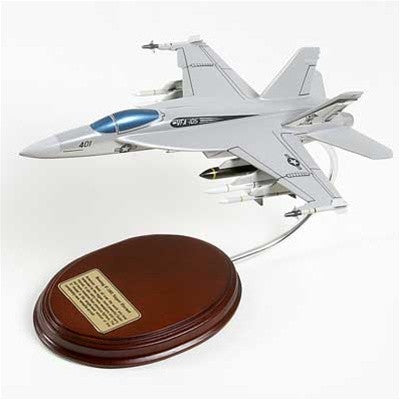 Boeing F/A-18E Super Hornet 1/60 Scale Mahogany Model