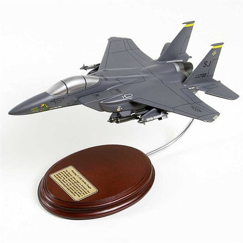 Boeing F-15E Strike Eagle 1/64 Scale Mahogany Model