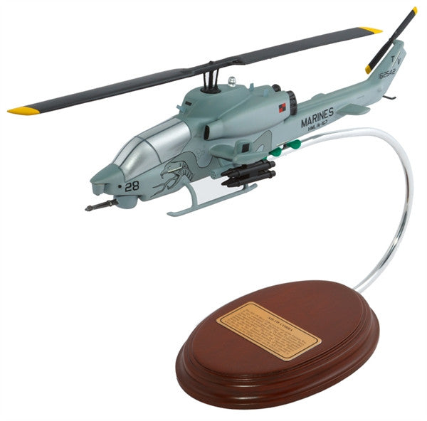 Bell AH-1W Cobra 1/44 Scale Mahogany Model