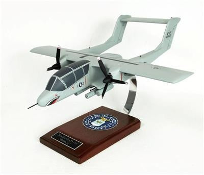 North American Rockwell OV-10 Bronco 1/28 Scale Mahogany Model