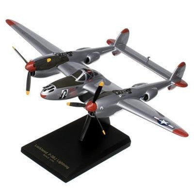 "Lockheed P-38J Lightning ""Marge"" 1/40 Scale Mahogany Model"