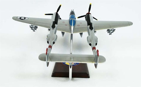 Lockheed P-38J Lightning Pudgy 1/32 Scale Mahogany Model