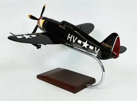 Republic P-47B Thunderbolt Razorback 1/32 Scale Mahogany Model