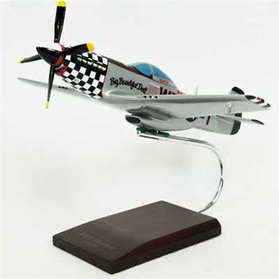 North American Aviation P-51D Mustang 1/32 Scale Mahogany Model