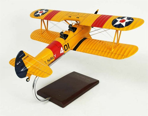 Stearman N2S-2/3/4 Yellow Peril 1/24 Scale Mahogany Model