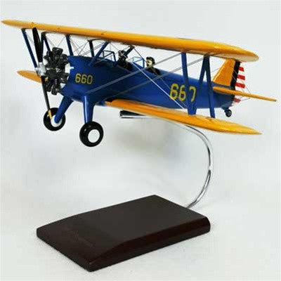 Stearman PT-17A  Kaydett 1/24 Scale Mahogany Model