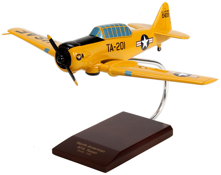 North American AT-6A Texan (yellow) Mahogany Model