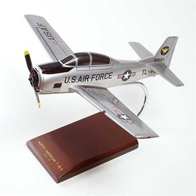 North American T-28A Trojan USAF 1/32 Scale Mahogany Model