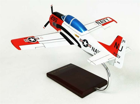 North American T-28B Trojan USN 1/32 Scale Mahogany Model
