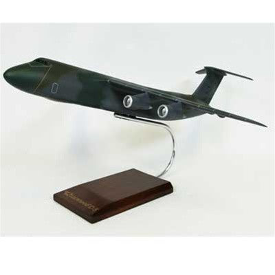 Desktop C-5 Galaxy (E-1 Camouflage) Mahogany Model, 1/150 Scale