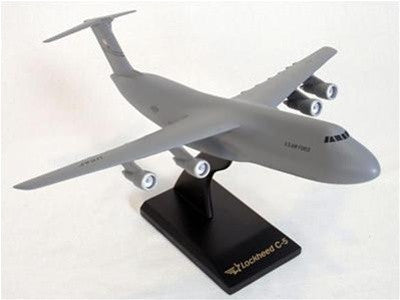 Desktop C-5 Galaxy (Gray Color) Mahogany Model, 1/150 Scale