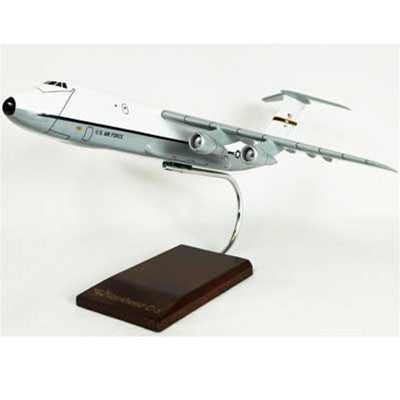 Desktop C-5 Galaxy (White-Gray) Mahogany Model, 1/150 Scale