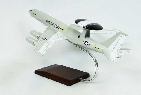 Desktop Boeing E-3A Sentry AWACS 1/100 Scale Mahogany Model
