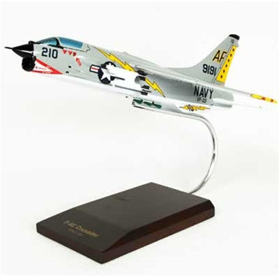 Vought F-8E Crusader 1/48 Scale Mahogany Model