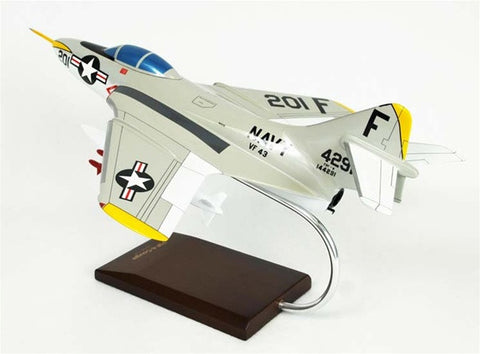 Northrop Grumman F9F-8 Cougar 1/32 Scale Mahogany Model