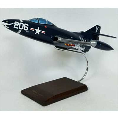Northrop Grumman F9F-5 Panther 1/32 Scale Mahogany Model