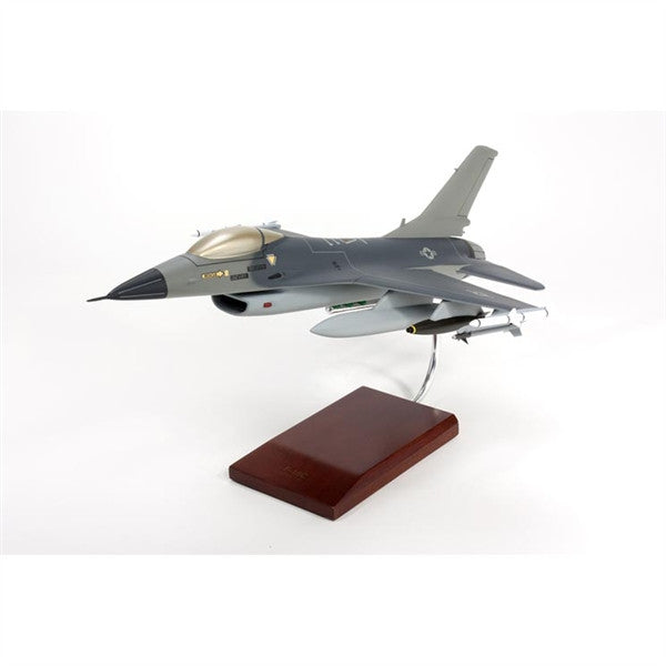 Desktop USAF F-16C Falcon 1/32 Scale Mahogany Model