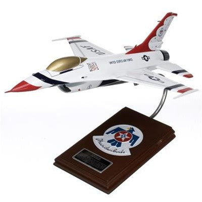 Lockheed Martin F-16A Falcon Thunderbird 1/32 Scale Mahogany Model