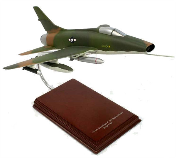 North American Aviation F-100 Super Sabre 1/40 Scale Mahogany Model