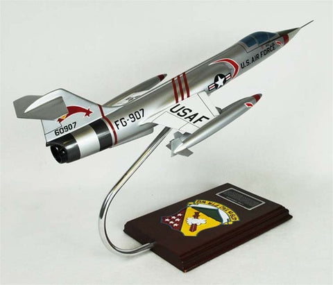 Lockheed Martin F-104C Starfighter 1/32 Scale Mahogany Model