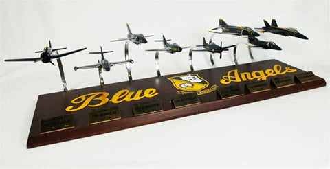 Blue Angels Collection 1/72 Scale Mahogany Models