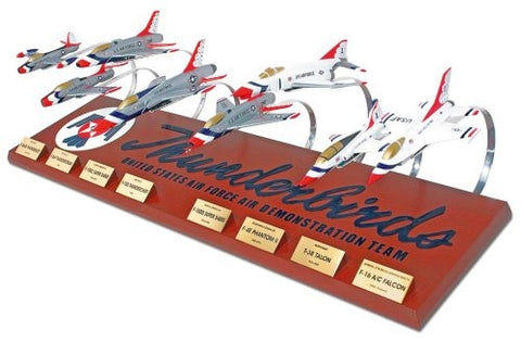 Desktop USAF Thunderbirds Collection 1/72 Scale Mahogany Model