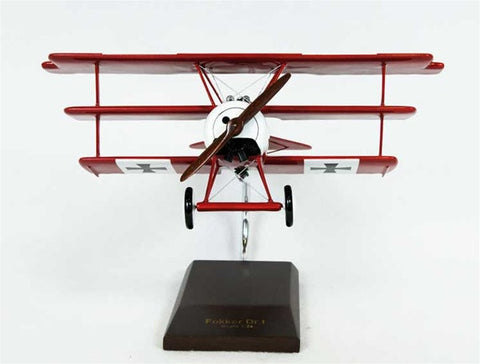 "Fokker Dr. 1 ""Red Baron"" 1/24 Scale Mahogany Model"