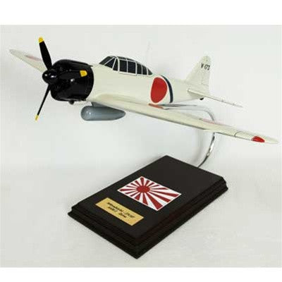 Mitsubishi A6M2 Zero as flown by Saboru Sakai 1/24 Scale Mahogany Model