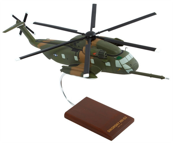 USAF HH-53D Jolly Green Giant 1/48 Scale Mahogany Model