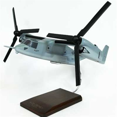 Boeing V-22 Osprey  USMC Grey 1/96 Scale Mahogany Model
