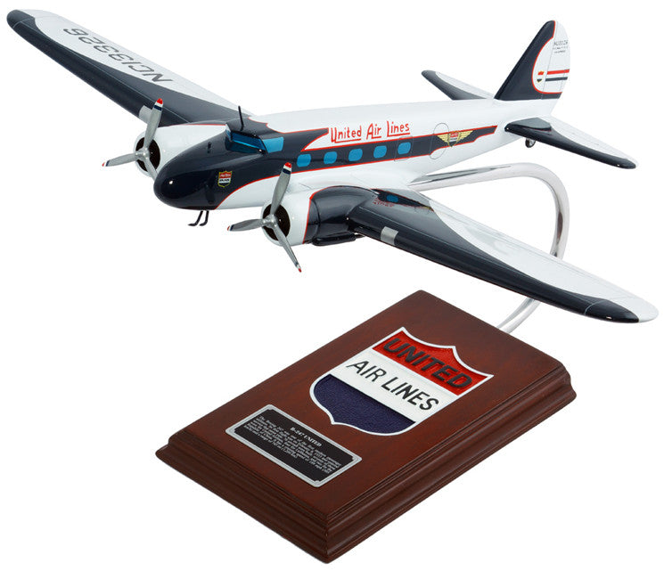 United Airlines Boeing B-247 Mahogany Model