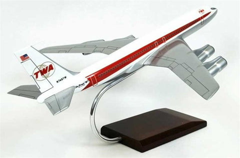Boeing 707-320 TWA (Trans World Airlines) 1/100 Scale Mahogany Model