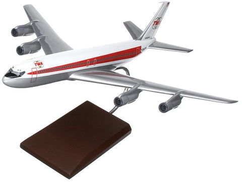 TWA (Trans World Airlines) Boeing 707-320 Mahogany Model