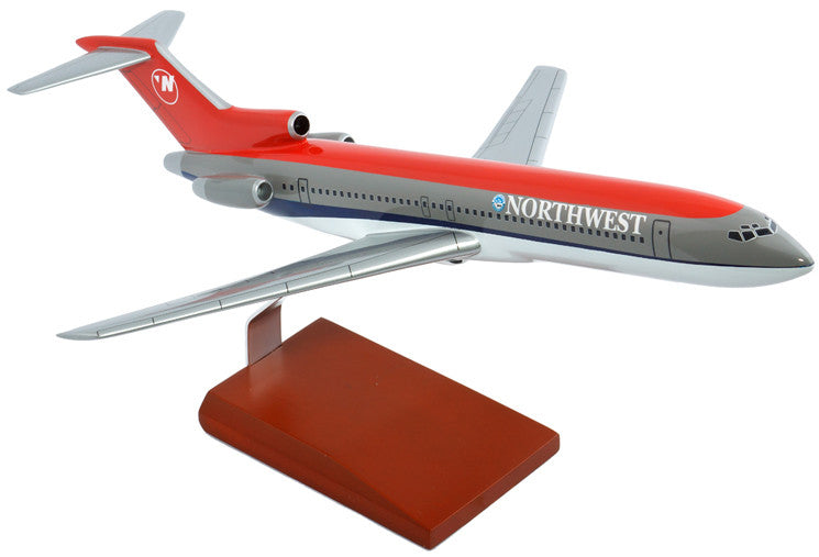 Northwest Airlines Boeing 727-200 Mahogany Model