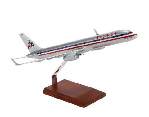 American Airlines Desktop Boeing 757-200 with Winglets 1/100 Scale Model