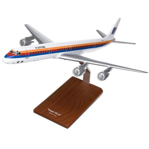 Douglas DC-8-71/73 United 1/100 Scale Mahogany Model