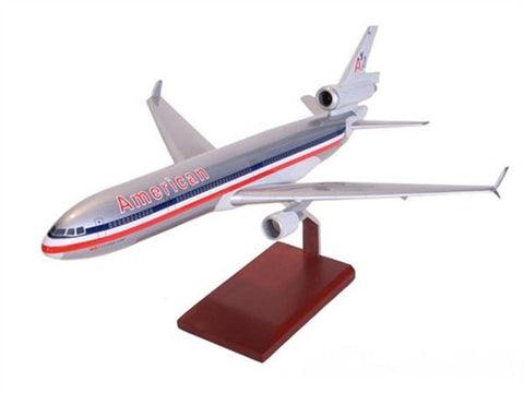 Boeing MD-11 American 1/100 Scale Mahogany Model