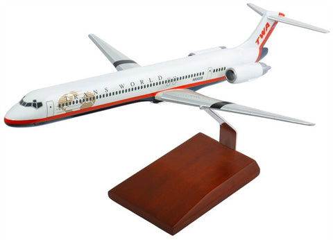 Boeing MD-80 TWA 1/100 Scale Model