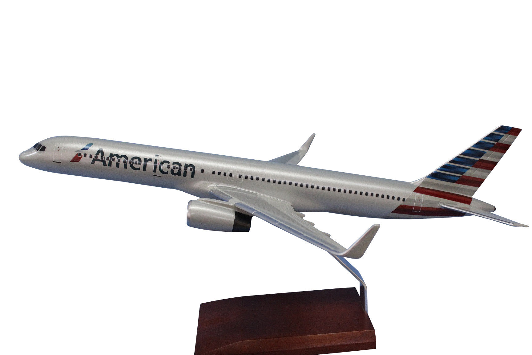 Desktop Boeing 757-200 New Livery American with Winglets 1/100 Scale Model