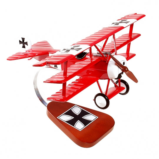 "Fokker Dr. 1 ""Red Baron"" 1/20 Scale Mahogany Model"