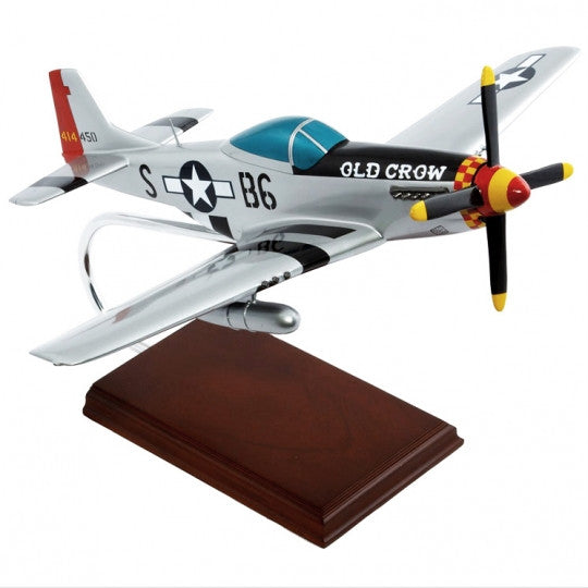 "North American P-51D Mustang ""Old Crow"" 1/24 Scale Mahogany Model"