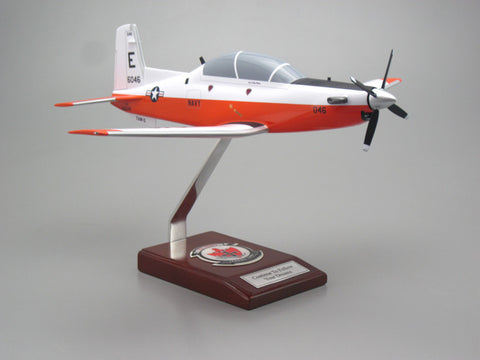 Beechcraft T-6 Texan II Custom Express Model Airplane (Navy)