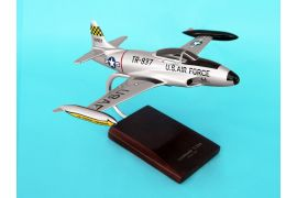 Desktop Boeing T-33A Shooting Star 1/48 Scale Mahogany Model