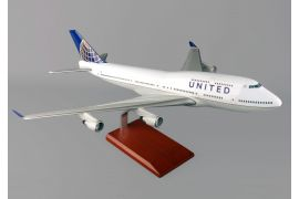 United Airlines Boeing B747-400 Mahogany Model (Post Continental Merger)