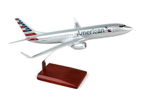 Desktop Boeing 737-800 New American Livery 1/100 Scale Model