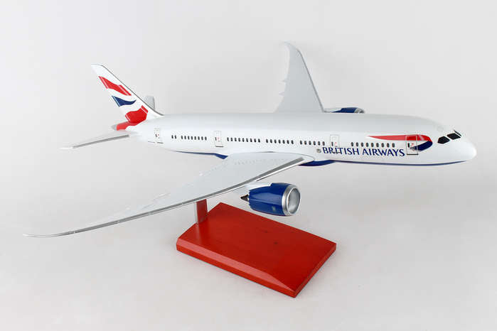 British Airways Boeing 787-8 Mahogany Model