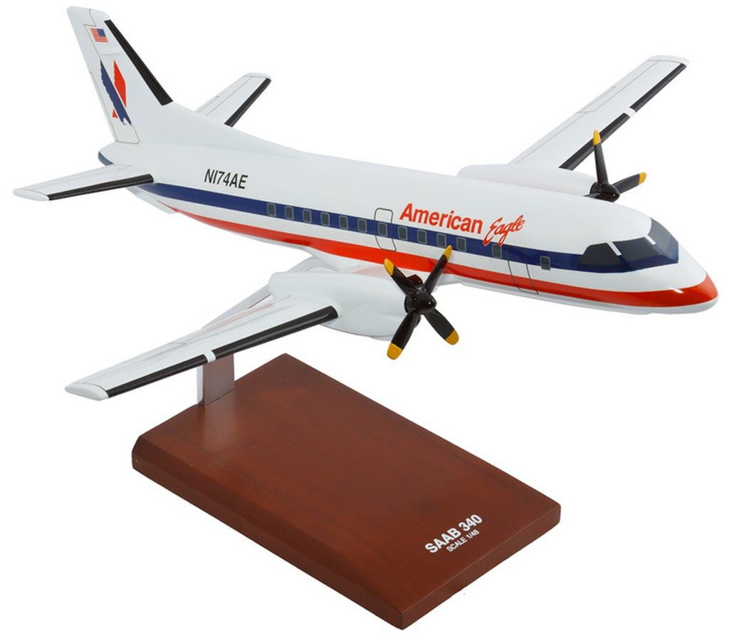 American Eagle Saab SF-340 Mahogany Model